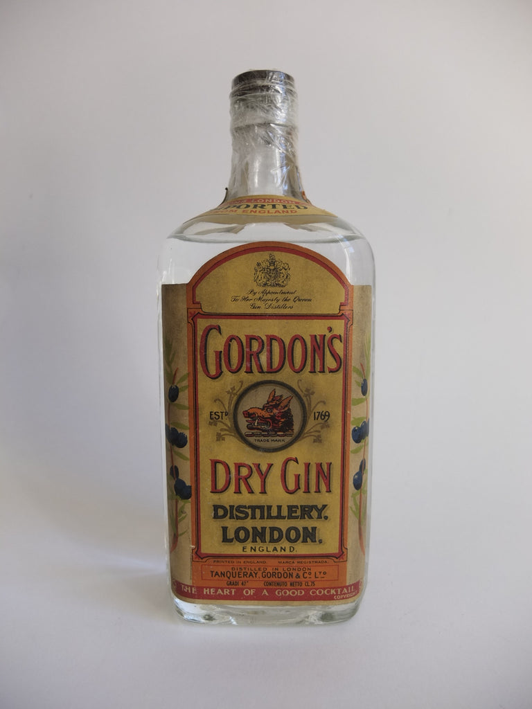 Gordon's Dry Gin (Export) - 1950s (47%, 75cl)