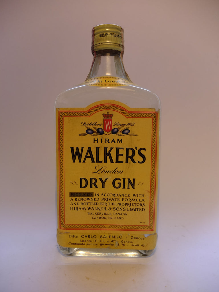 Hiram Walker's London Dry Gin - 1970s (43%, 75cl)