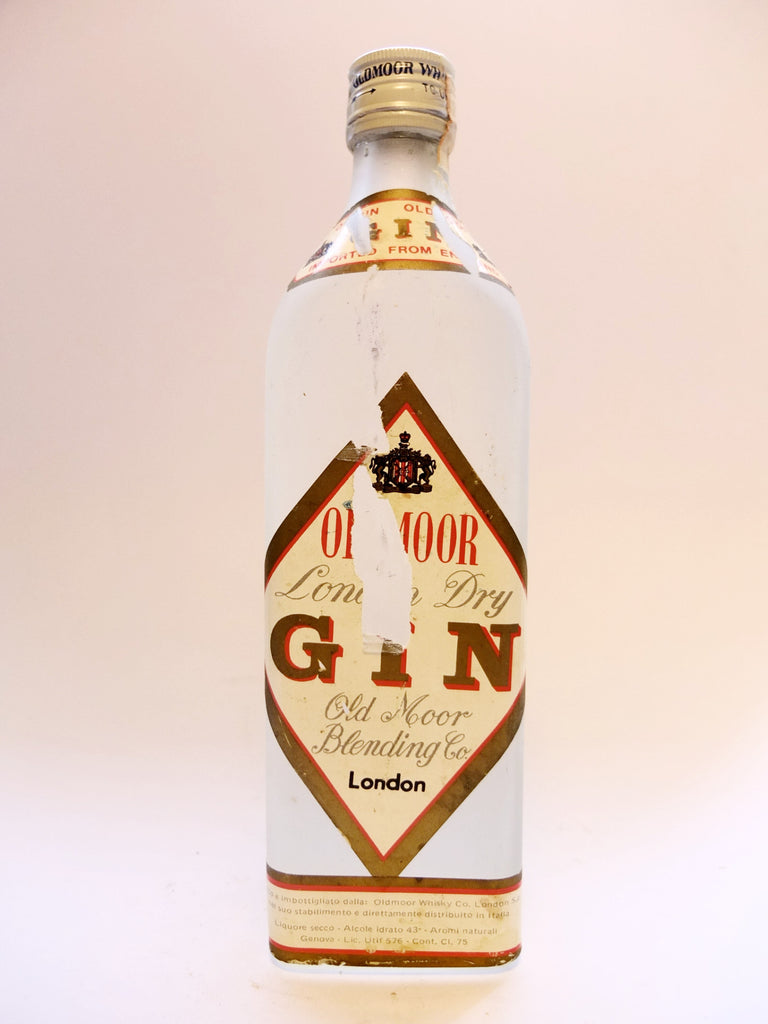 Oldmoor London Dry Gin - 1960s	(40%, 75cl)
