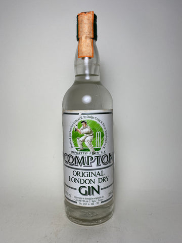 Compton Original London Dry Gin - 1990s (38%, 70cl)