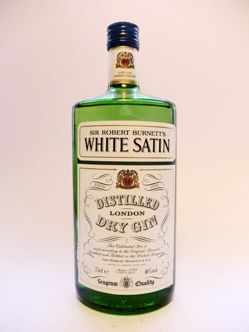 Sir Robert Burnett's White Satin London Dry Gin - 1980s (40%, 75cl)