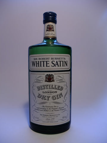Sir Robert Burnett's White Satin London Dry Gin - 1970s (40%, 75cl)