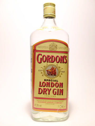 Gordon's Special London Dry Gin - Late 1980s (47.3%, 100cl)