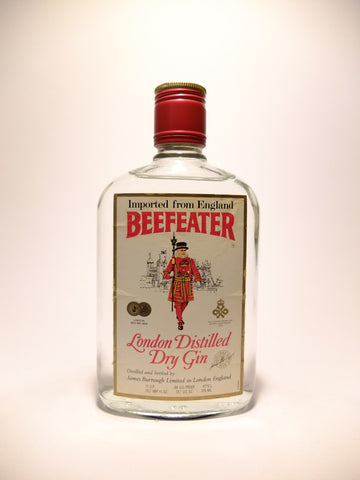 Beefeater London Distilled Dry Gin - 1970s (47%,	37.5cl)