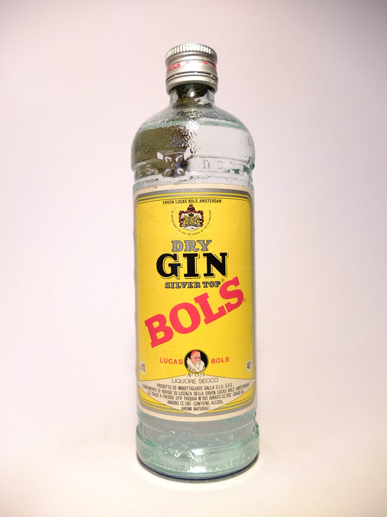 Bols Silver Top Dry Gin - 1970s (40%, 70cl)