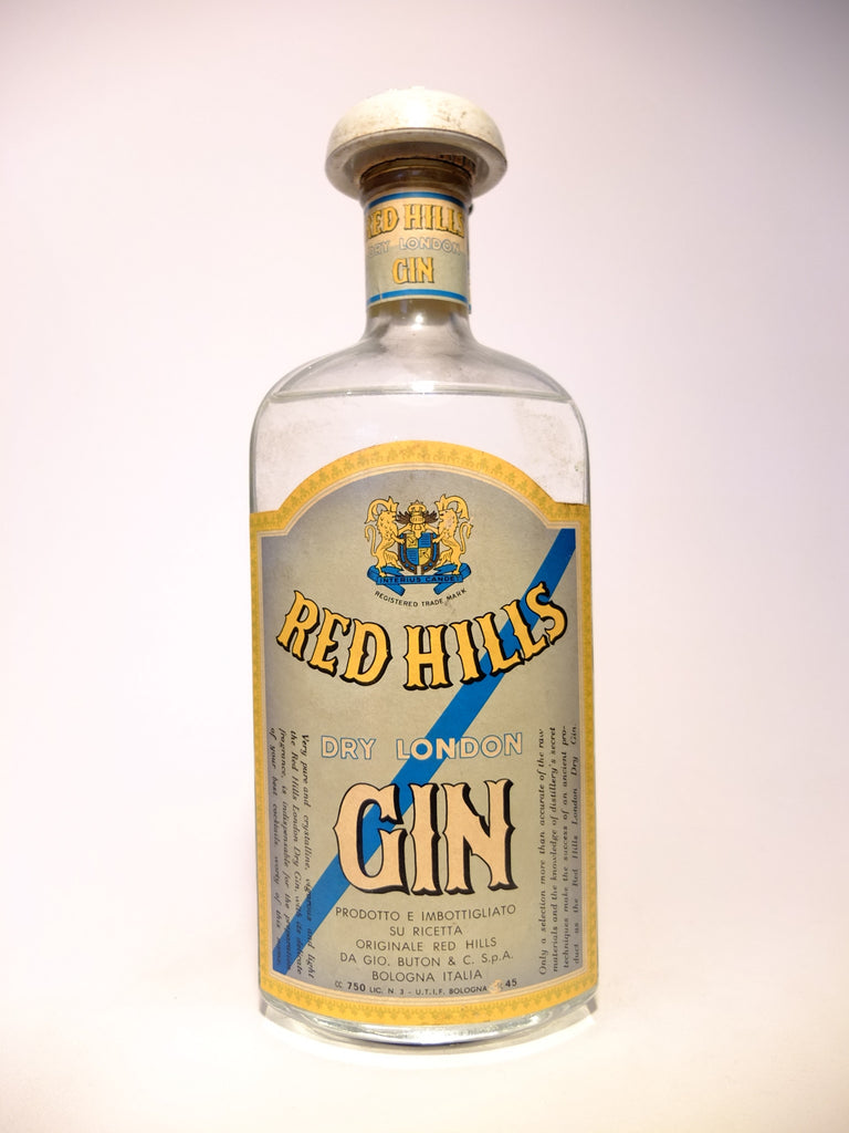 Buton Red Hills Dry Gin - 1949-59 (45%, 75cl)