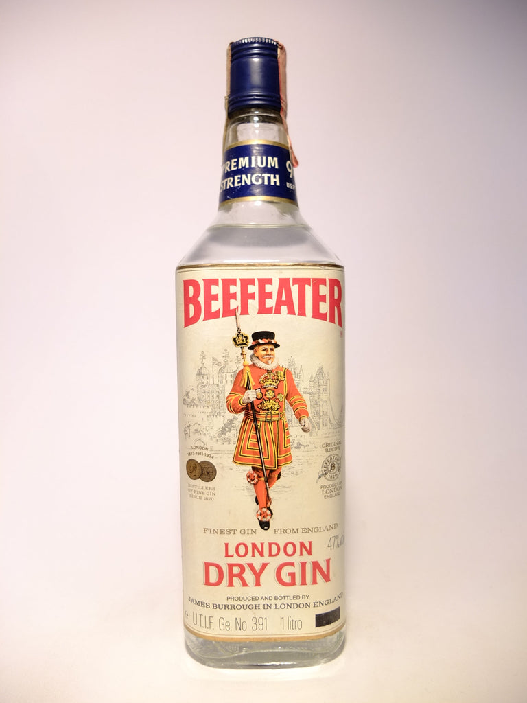 Beefeater London Dry Gin - 1980s (47%, 100cl)