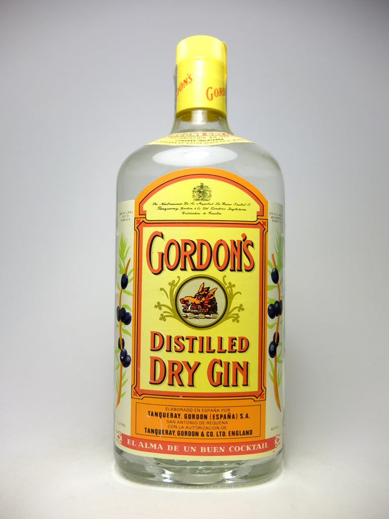 Gordon's Dry Gin (Export) - 1980s (40%, 100cl)