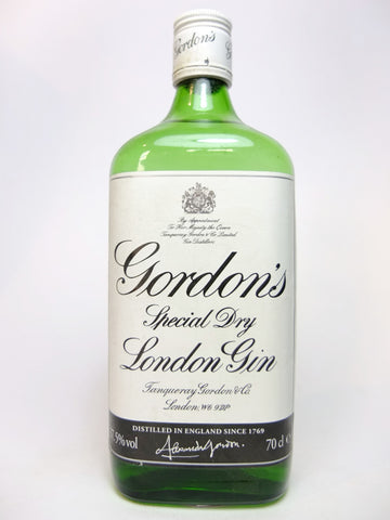 Gordon's Special Dry London Gin - 1990s, (37.5%, 70cl)