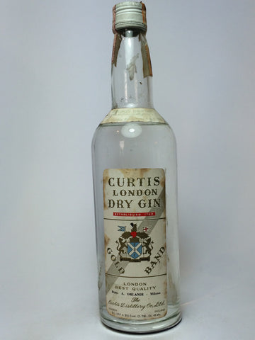Curtis London Dry Gin - 1960s (43%, 75cl)