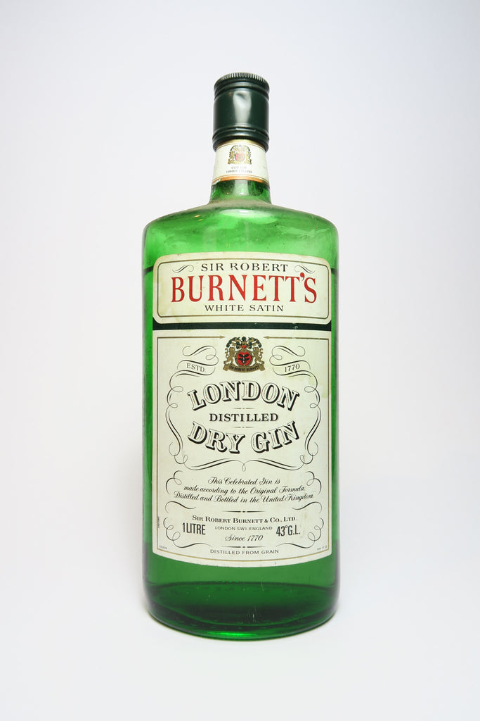 Sir Robert Burnett's White Satin Gin - 1970s (43%, 100cl)