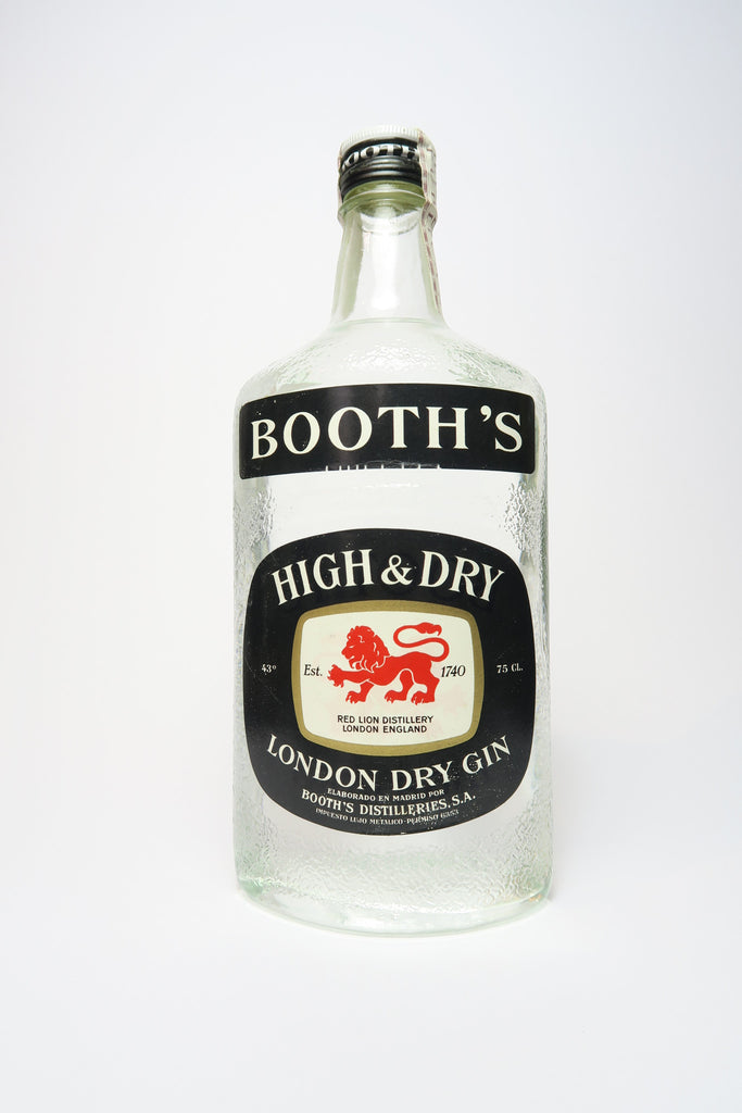 Booth's High & Dry London Dry Gin - 1970s (43%, 75cl)