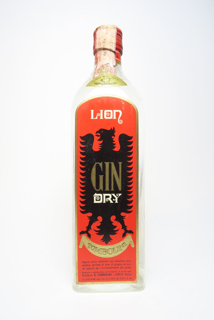 Tombolini Lion Dry Gin - 1970s (45%, 75cl)