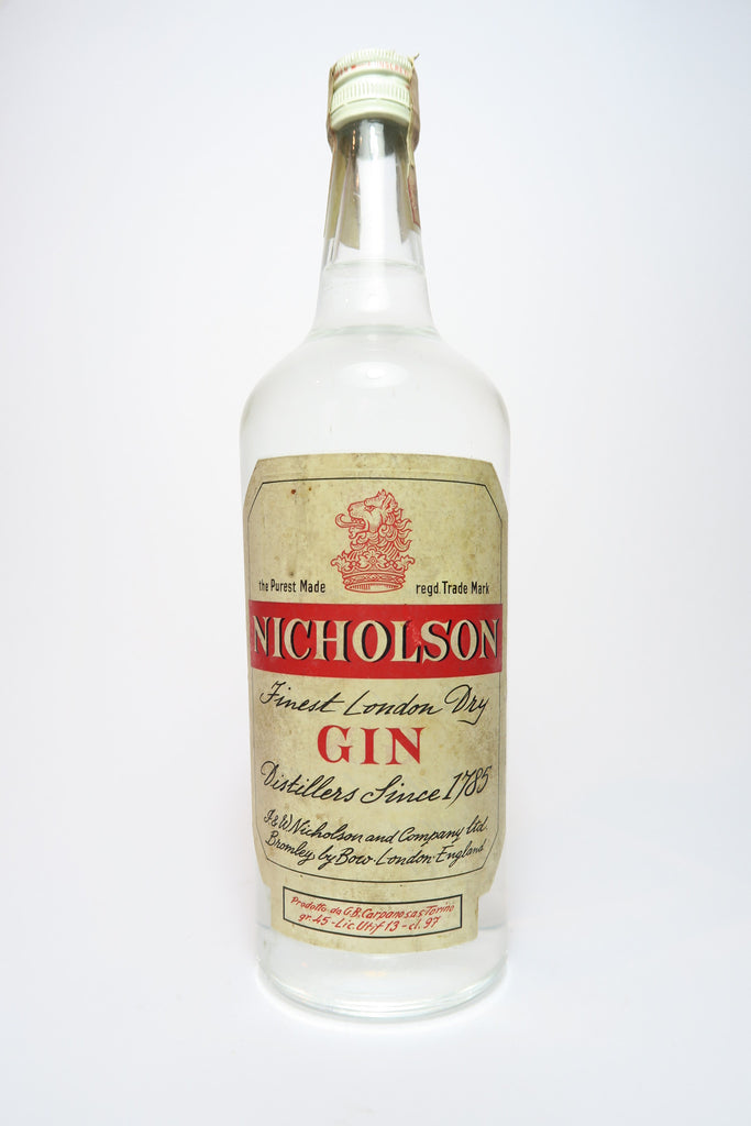 Nicholson Finest London Dry Gin - 1950s (45%, 97cl)