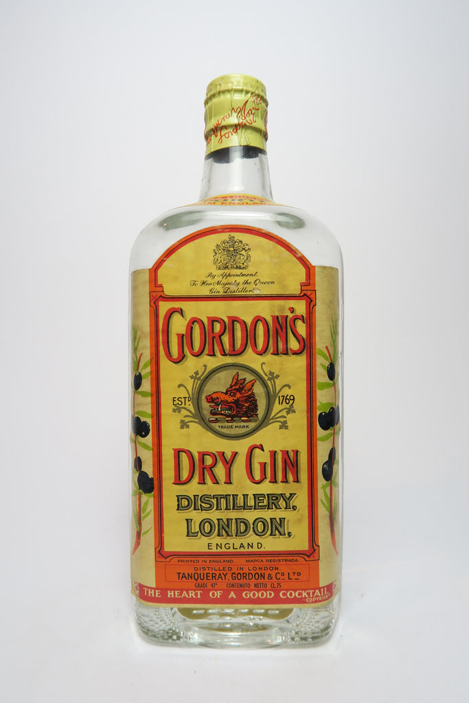 Gordon's Dry Gin - 1950s (47%, 75cl)