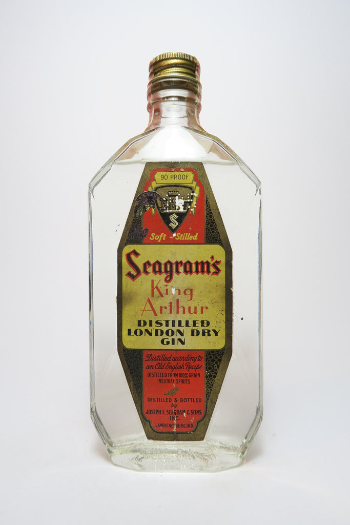 Seagram's King Arthur Distilled London Dry Gin - 1940s (45%, 47.3cl)