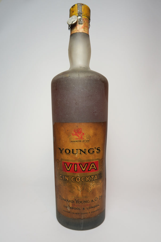 Edward Young's Viva Gin Cocktail - 1933-44 (ABV Not stated, 100cl)