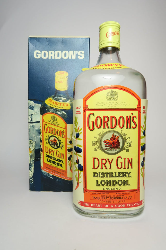 Gordon's London Dry Gin (Export) - 1970s (47.3%, 100cl)