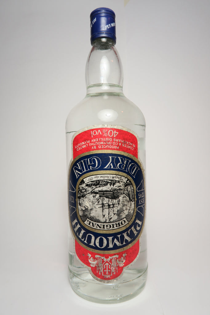 Plymouth Original English Dry Gin - 1970s (40%, 113cl)