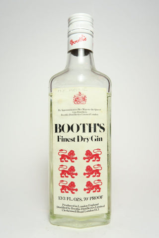 Booth's Finest Gin - 1970s (40%, 37.5cl)