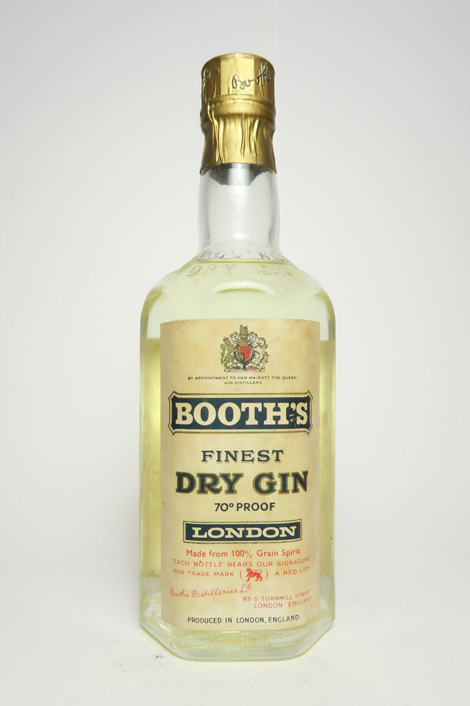 Booth's Finest London Dry Gin - Bottled 1962 (40%, 37.5cl)
