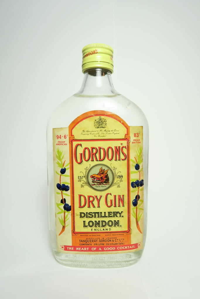 Gordon's Dry Gin - 1960s (47.3%, 37.5cl)