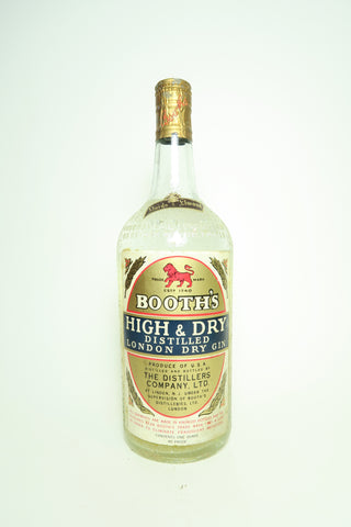 Booth's High & Dry London Dry Gin - 	1940s (45%, 94.6cl)