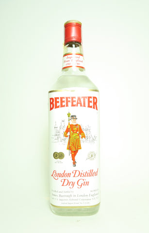 James Burrough's Beefeater London Distilled Dry Gin - late 1970s/early 1980s (47% - 100cl)