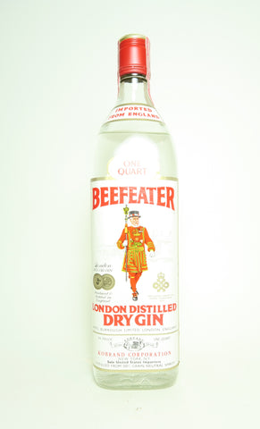 James Burrough's Beefeater London Distilled Dry Gin - c. 1976 (47%, 94.6cl)