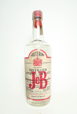 Justerini & Brooks London Dry Gin - 1960s (Not Stated, 75cl)