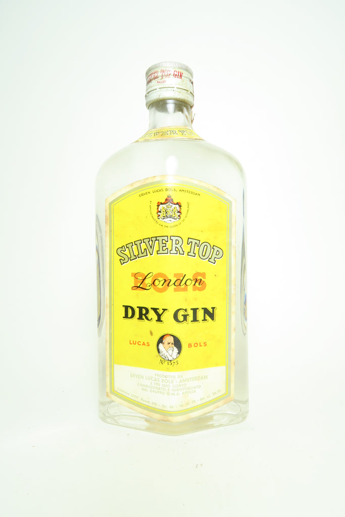 Bols Silver Top London Dry Gin - Dated 1965, (45%, 75cl)