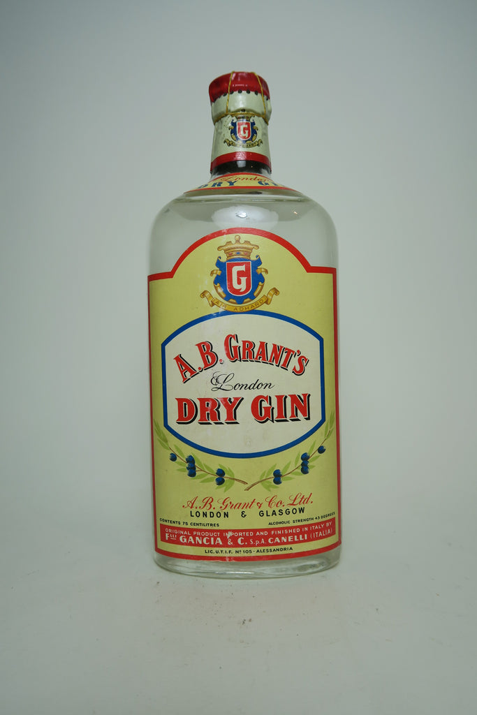 A. B. Grant's London Dry Gin - 1949-59 (43%, 75cl)