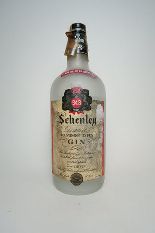 Schenley's London Dry Gin - 1940s (47.4%, 112cl)