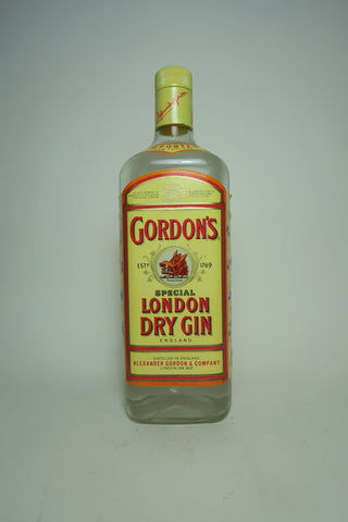 Gordon's London Dry Gin (Export) - 1990s, (40%, 100cl)