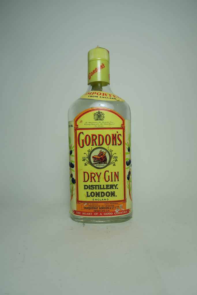 Gordon's Dry Gin (Export) - 1980s (38%, 70cl)