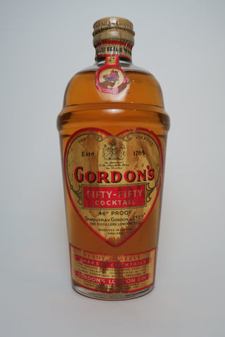 Gordon's Fifty-Fifty Shaker Cocktail - 1950s (26%, 37.5cl)