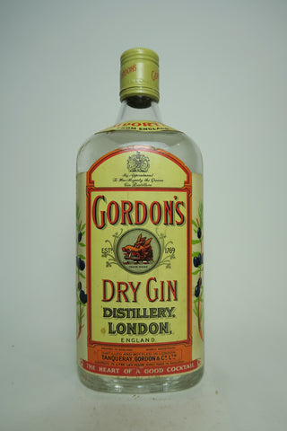 Gordon's Dry Gin (Export) - 1970s, (ABV Not Stated, 75cl)