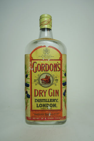 Gordon's London Dry Gin (Export) - 1950s (ABV Not Stated, 75cl)