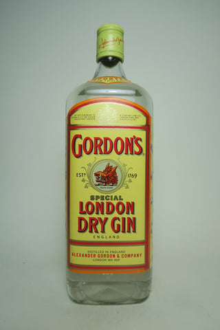 Gordon's London Dry Gin (Export) - 1990s (43%, 100cl)