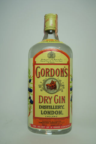 Gordon's London Dry Gin (Export) - 1970s (43%, 75cl)