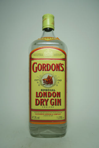 Gordon's London Dry Gin (Export) - 1990s, (47.3, 100cl)