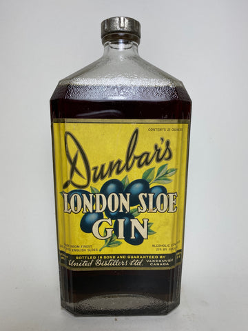 United Distillers' Dunbar's London Sloe Gin - 1930s (25%, 74cl)