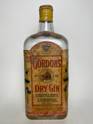 Gordon's Dry Gin (Export) - post-1936 (ABV Not Stated, 75cl)