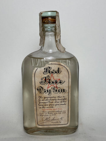 Paul Jones' Red Star Dry Gin - 1920s (ABV Not Stated, 23.7cl)