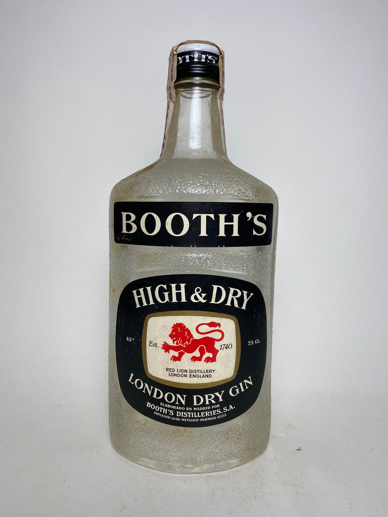 Booth's High & Dry London Dry Gin - 1960s (43%, 75cl)
