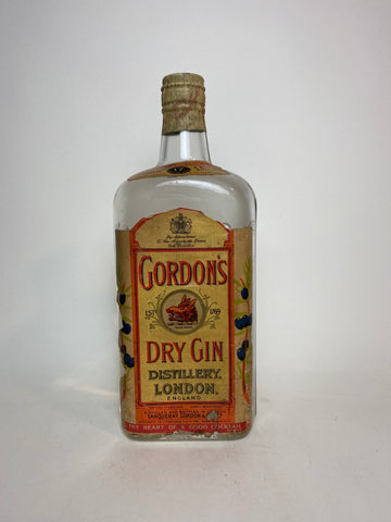 Gordon's Dry Gin (Export) - 1950s (ABV Not Stated, 75cl)