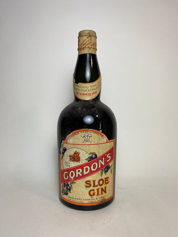 Gordon's Sloe Gin - c. 1925-36 (ABV Not Stated, 75cl)