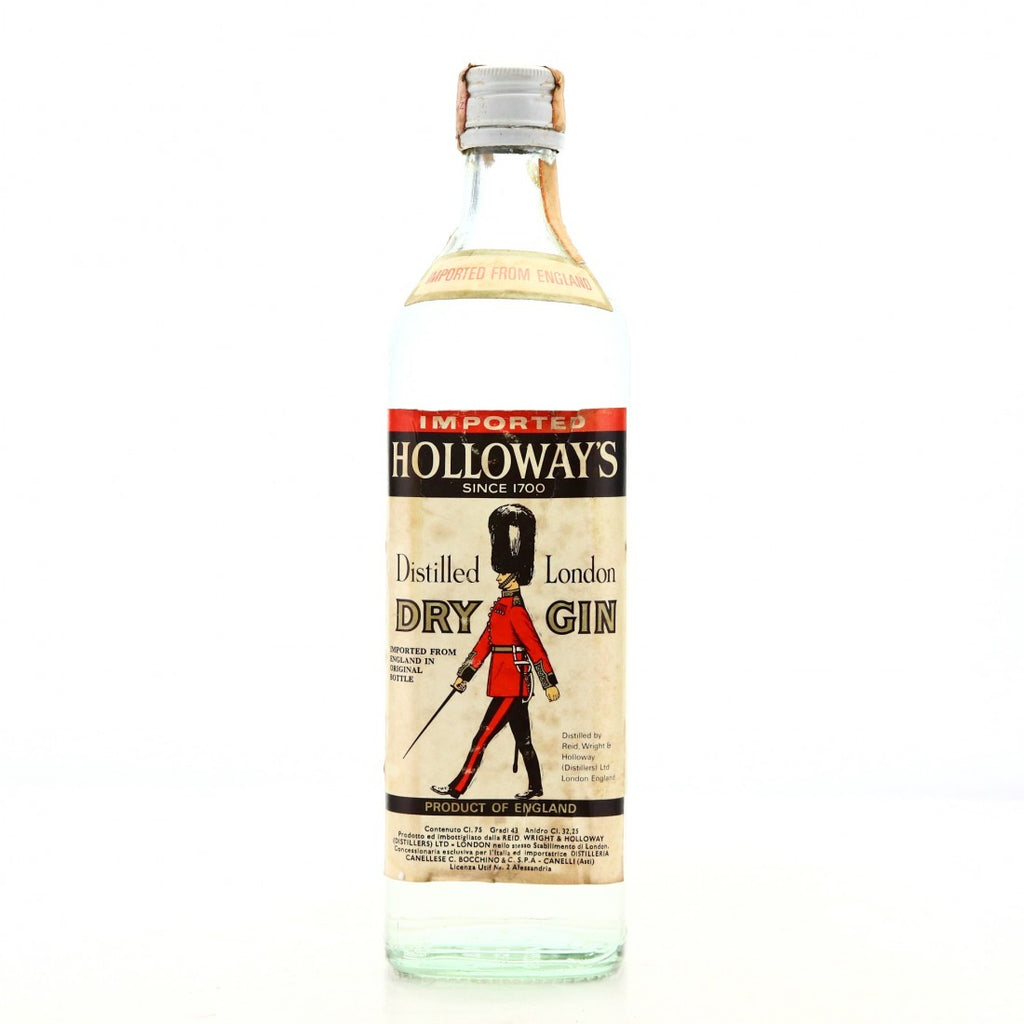 Reid Wright & Holloway's Distilled London Dry Gin - 1970s (43%, 75cl)