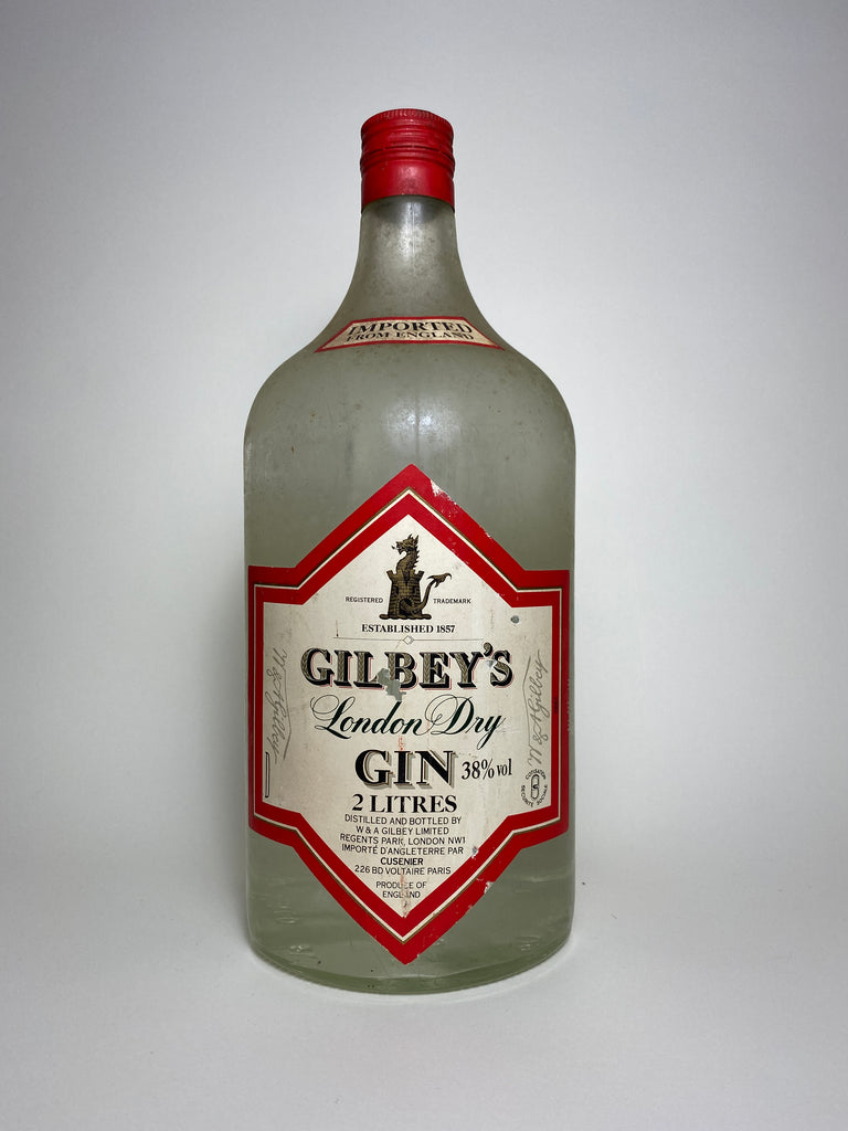 Gilbey's London Dry Gin - Dated 1961 (38%, 200cl)