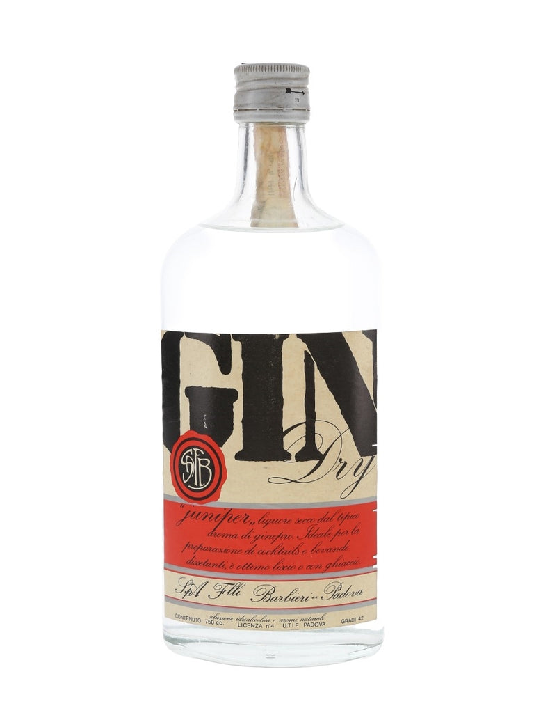 Barbieri Dry Gin - 1970s (42%, 75cl)
